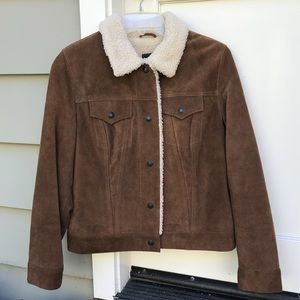 Gap Leather Sherpa Jacket